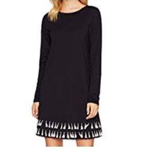 Dresses & Skirts - NEW Black Long Sleeve Tassel Tunic Dress - M